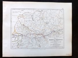 Alison & Johnston 1852 Battle Map of Parts of Russia. Campains of 1812